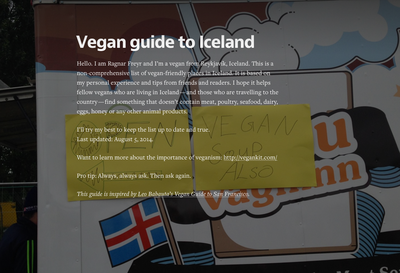 Vegan guide to Iceland